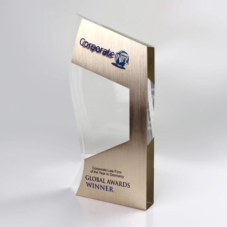 大理石水晶獎杯定製定做創意刻  彩印大獎杯木質獎杯定製高檔