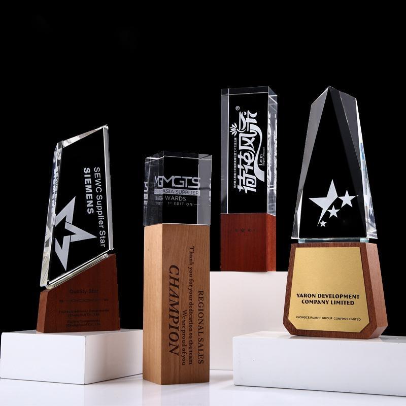 木質獎杯獎牌定製定做水晶金屬  牌証書製作榮譽加盟牌匾聘書牌