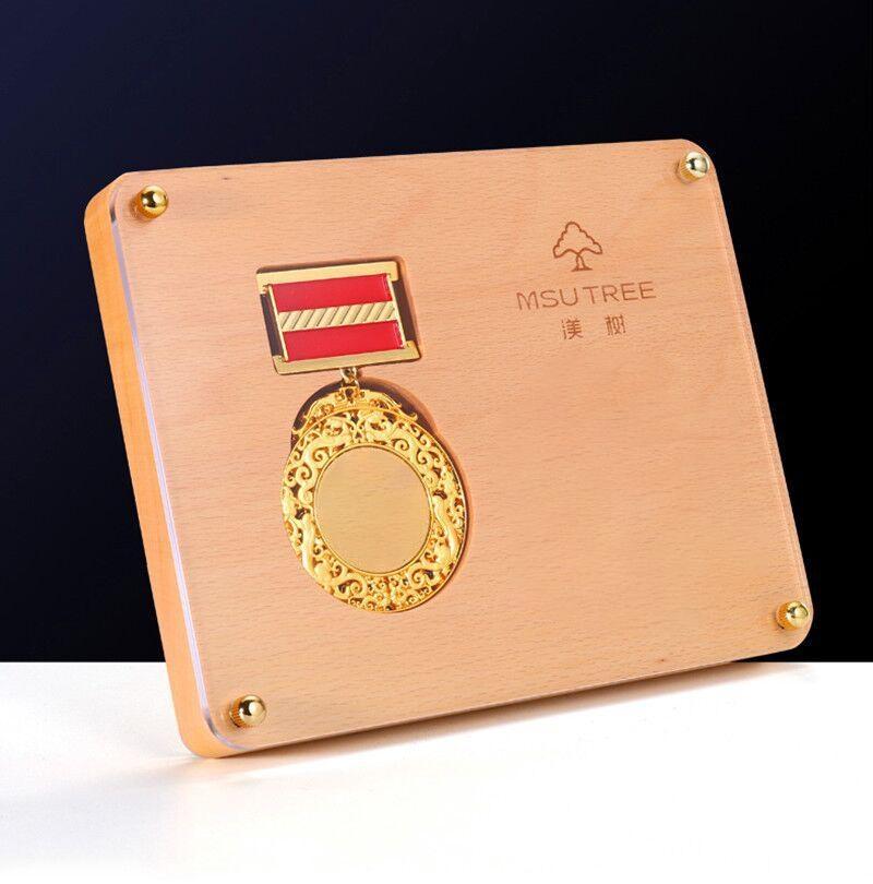 獎牌定製挂牌定做木質牌匾  牌內嵌徽章訂做金屬勛章紀念章獎杯