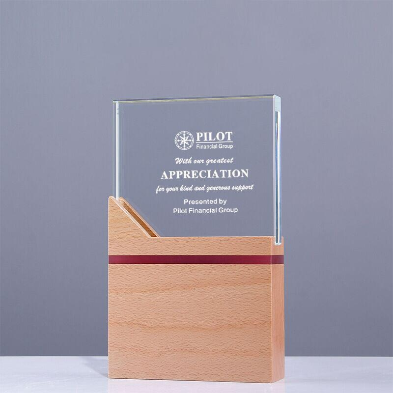 CUSTOME AWARD AND TROPHY,LARGE WOODEN BLOCK AWARD