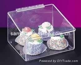 Acrylic cake box,acrylic food box, food tray