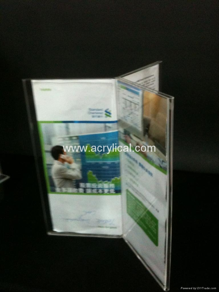 acrylic menu holder/table tent/sign holder