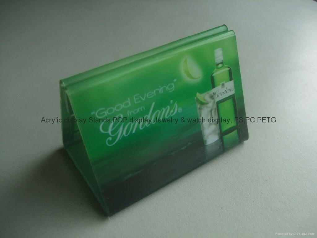 有机玻璃-餐牌座(acrylic menu holder) 4