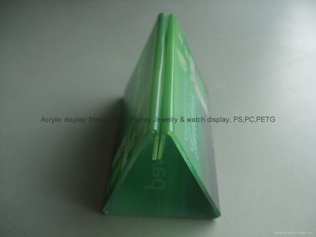 有机玻璃-餐牌座(acrylic menu holder) 5