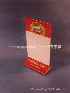 acrylic menu holder Size (W x H x T): 15cm x 27.5cm x 2mm