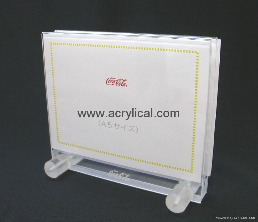 acrylic menu holder  210x297mm