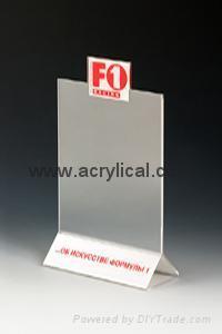 acrylic menu holder 4x6