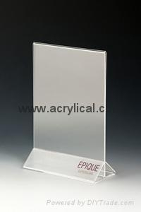 acrylic menu holder 4x6