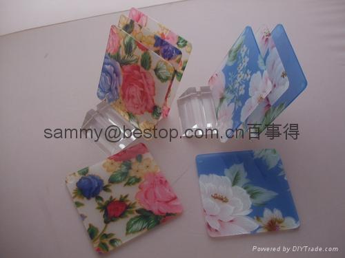 acrylic coaster size:100mmx100mm