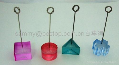 acrylic memo clip holder 25x25x125mm