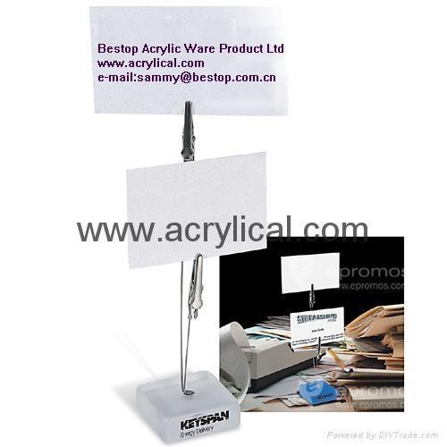 Acrylic memo clip 12x12x125mm