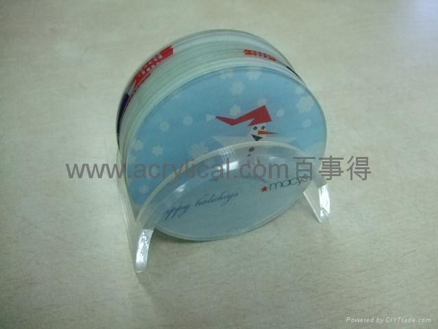 acrylic coaster size:100mmx100mm