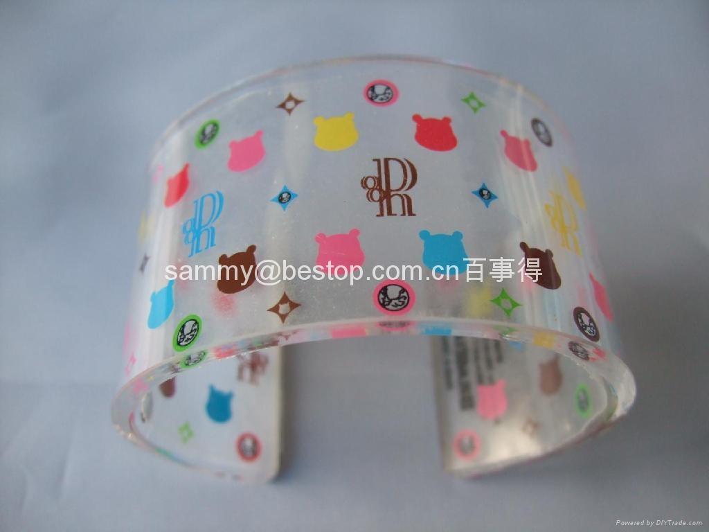 Acrylic Bangle Bracelet