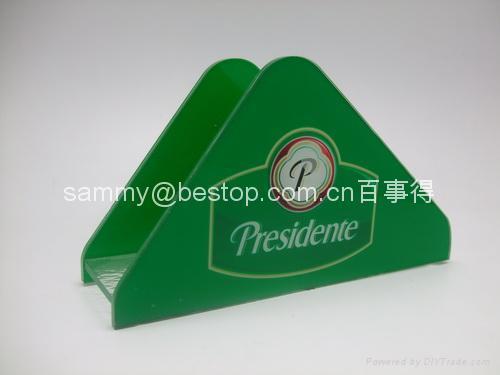 有機玻璃紙巾架(廣告促銷) 1
