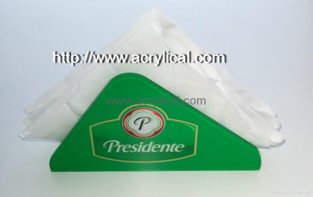 有机玻璃纸巾架(广告促销) 2