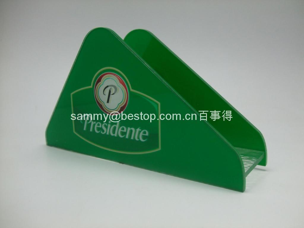 有机玻璃纸巾架(广告促销) 3