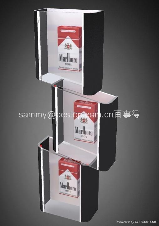 acrylic Cigarette dispenser  with LED