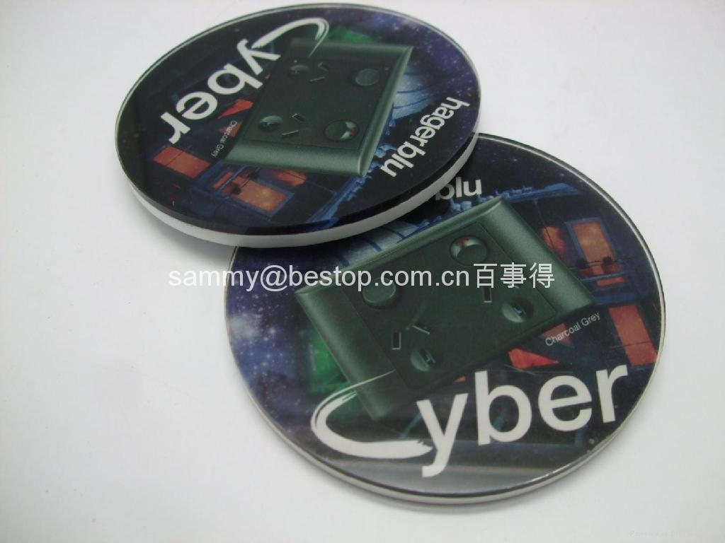 acrylic coaster size:100mmx100mm 6mm thickness