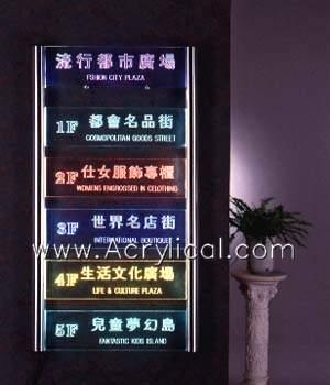 LED acrylic signage