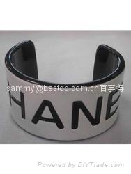 acrylic bangle bracelet with engraving