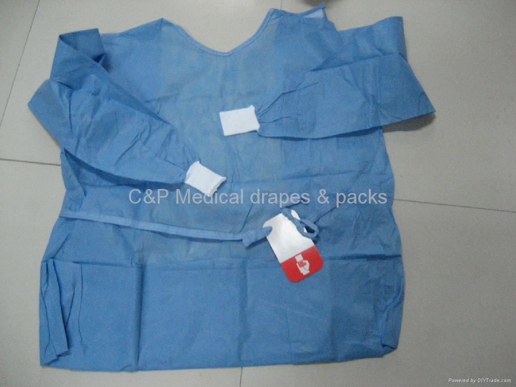 Surgical gown with card