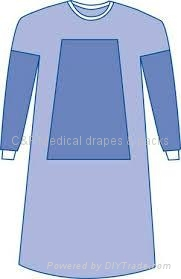 Reinforced surgical gown