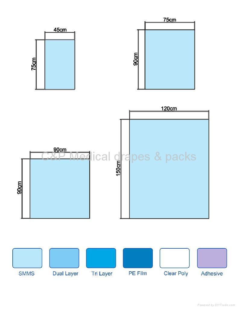SMS Single Plain drape