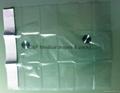 Transparent PE drape / With adhesive 4x40cm