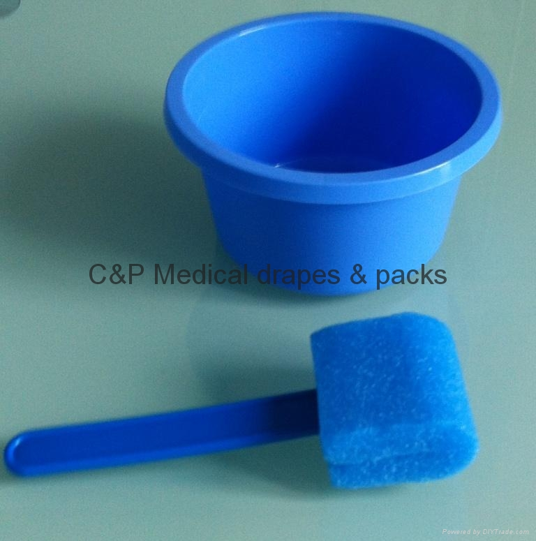 Patient disinfection kit /  PVC bowl + medical swab
