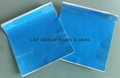 Surface protective film with adhesive / 20 x 20cm  / silicon coated paper backing
