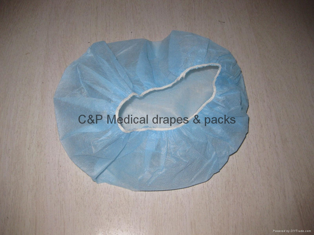Nurse caps with elastic