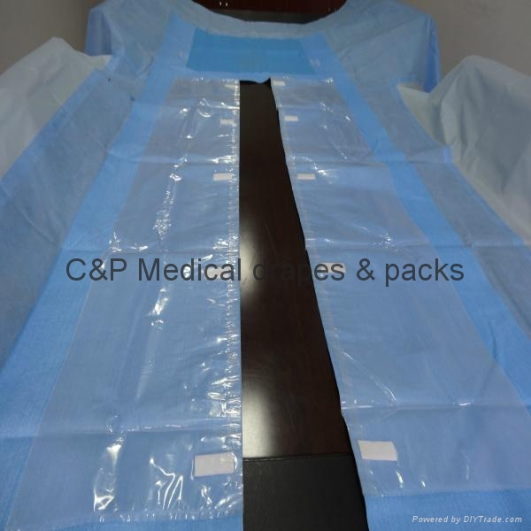 Disposable Sterile Cardiovascular Spilt T Drape