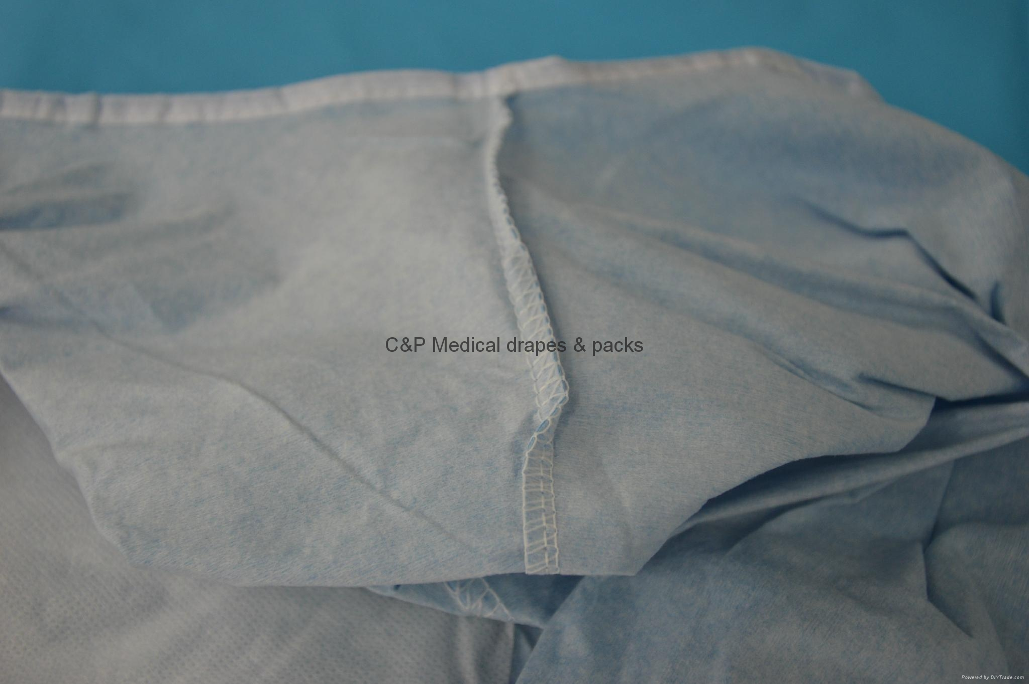 Surgeon gown over-locking sewing