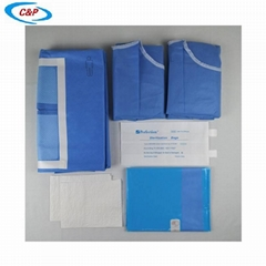 CE ISO13485 Approved Medical Sterile Laparotomy Surgical Drape Pack