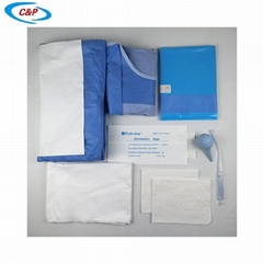 Sterile Disposable Gynecology C-section Surgical Drape Pack