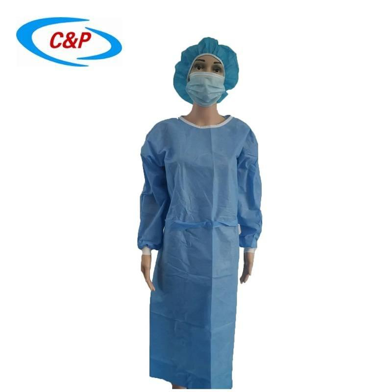 Disposable Non woven AAMI Level 3 Isolation Gown 1