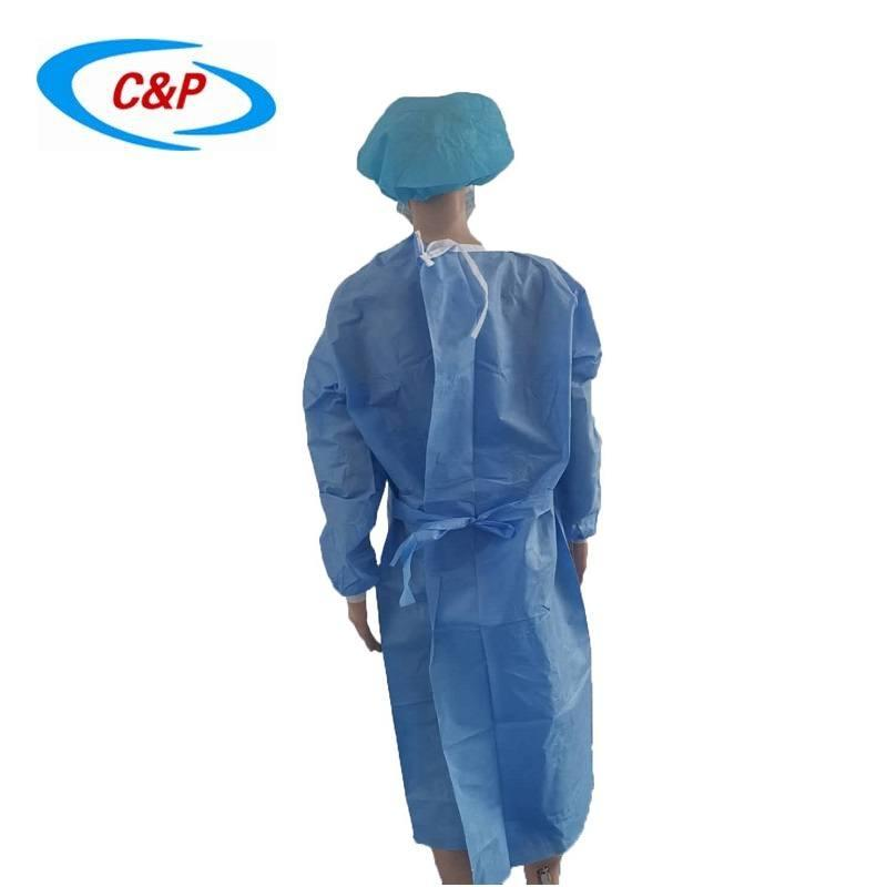 Disposable Non woven AAMI Level 3 Isolation Gown 2
