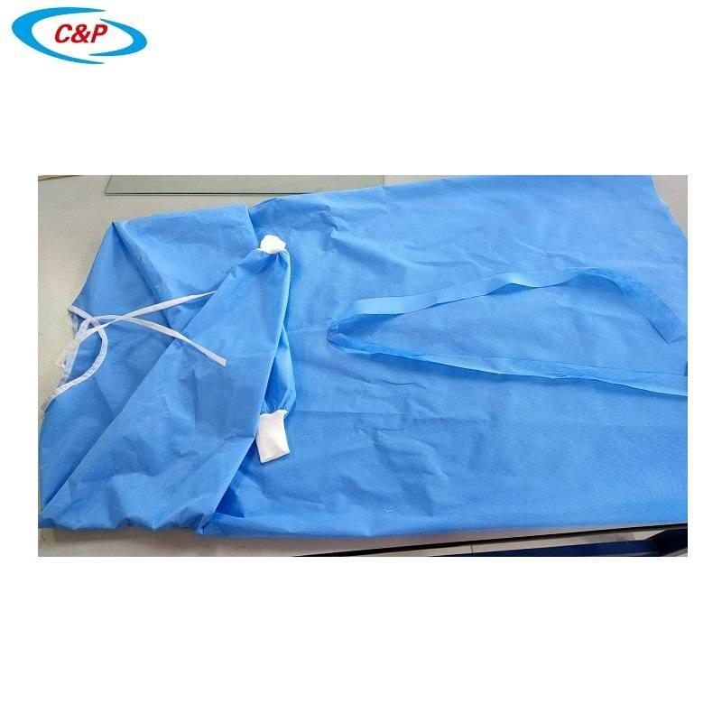 Disposable Non woven AAMI Level 3 Isolation Gown 3