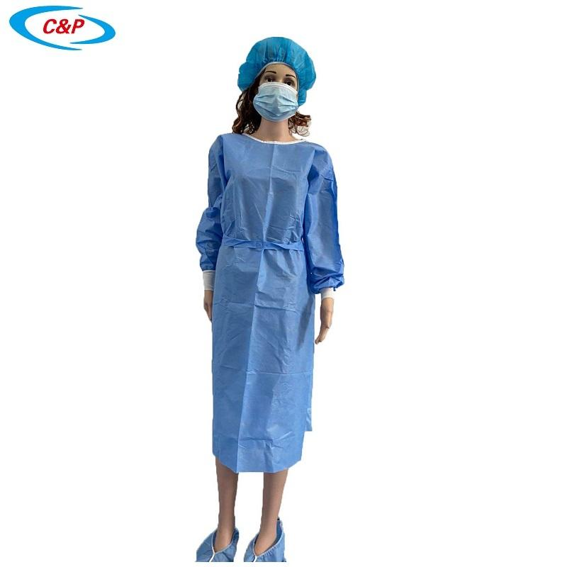 Disposable Isolation Gown Non woven AAMI Level 2 Isolation Gown