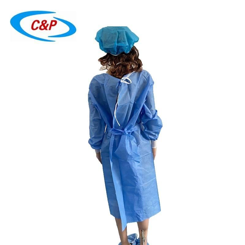 Disposable Non woven AAMI Level 2 Isolation Gown 2