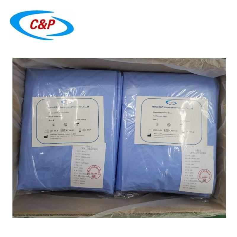 Disposable PP+PE Isolation Gown Manufacturer 5