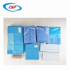 Disposable Orthopedic Knee Arthroscopy Surgery Drape Pack Kit With Gown