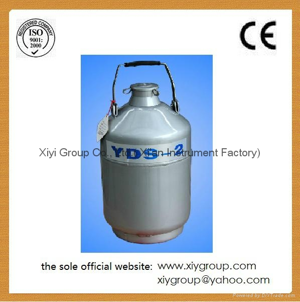 New 10 L Cryogenic Container Liquid Nitrogen LN2 Dewar Tank