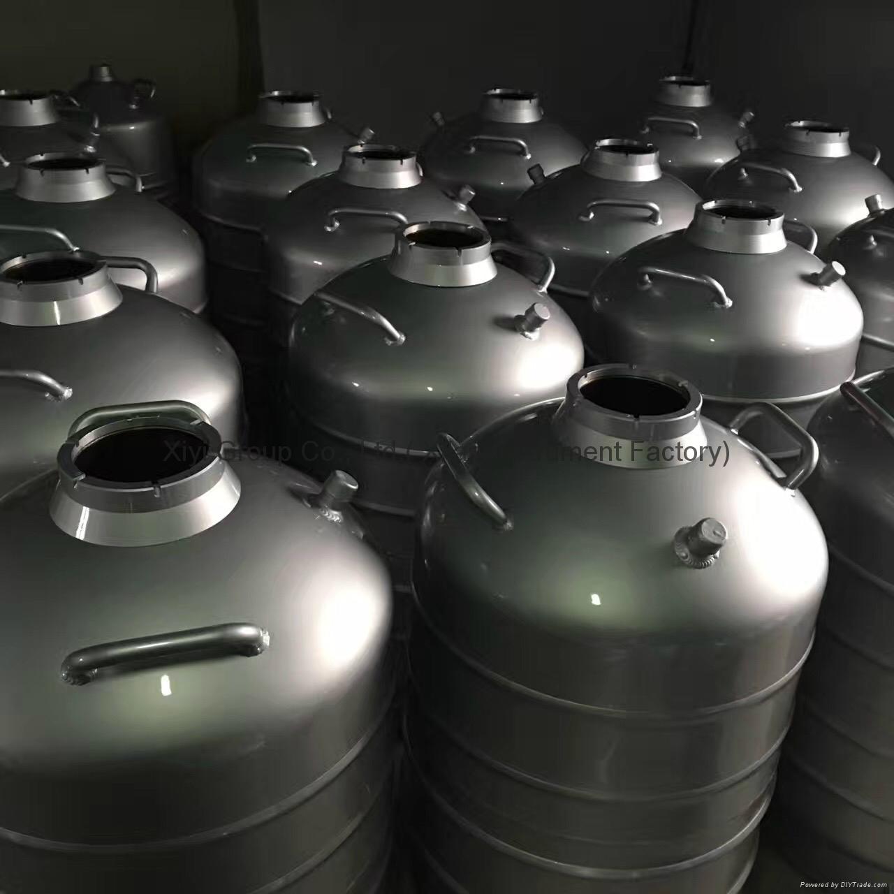 New 35L Cryogenic Container Liquid Nitrogen LN2 Dewar Tank w/ Straps 5