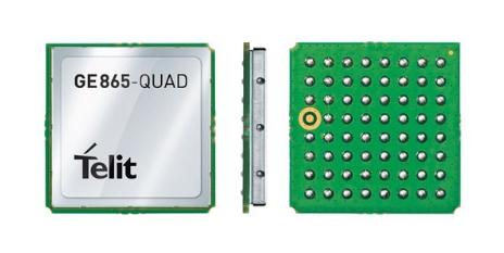 Gsm click breakout board for telit gl865 gsm/gprs quad module.