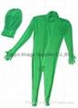 Chromakey green body suit