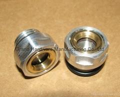Air compressor Aluminum fluid level Sight glass M24x1.5