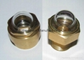 Domed shape brass oil viewports