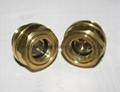 "G1/2"" Brass oil sight glass for gearboxes"
