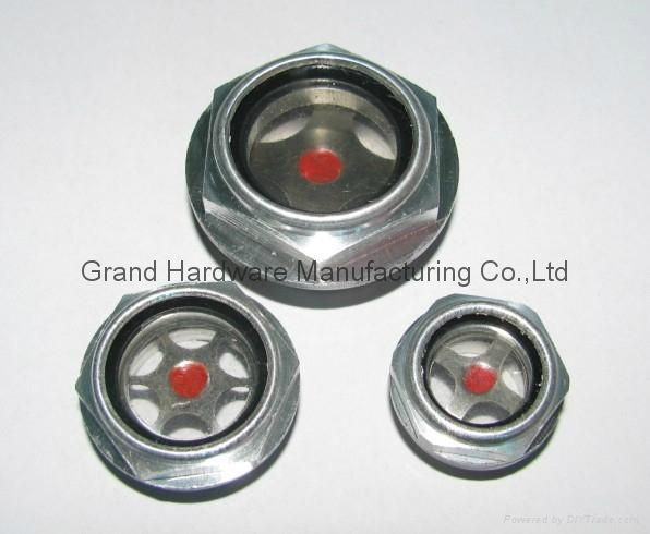 aluminum oil level indicator plug with plastic glass for air compressor